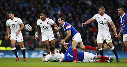 February 10, 2019 - London, England, United Kingdom - Morgan Parra of France during the Guiness 6 Nations Rugby match between England and France at Twickenham  Stadium on February 10th, 2019 in Twickenham, London,  England. (Credit Image: © Action Foto Sport/NurPhoto via ZUMA Press)