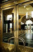 Deutschland Germany Hessen.Hessen, Wiesbaden.Kurhaus, Messing Eingangst?r., Spa House, door...