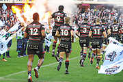 Players take to the pitch for the Guinness Pro 14 2017_18 match between Edinburgh Rugby and Glasgow Warriors at Myreside Stadium, Edinburgh, Scotland on 28 April 2018. Picture by Kevin Murray.