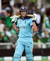 Cricket - 2019 ICC Cricket World Cup - Group Stage: England vs. Pakistan<br /> <br /> A dejected Ben Stokes of England after being caught behind by wicket keeper, Sarfaraz Ahmed, at Trent Bridge, Nottingham.<br /> <br /> COLORSPORT/ANDREW COWIE