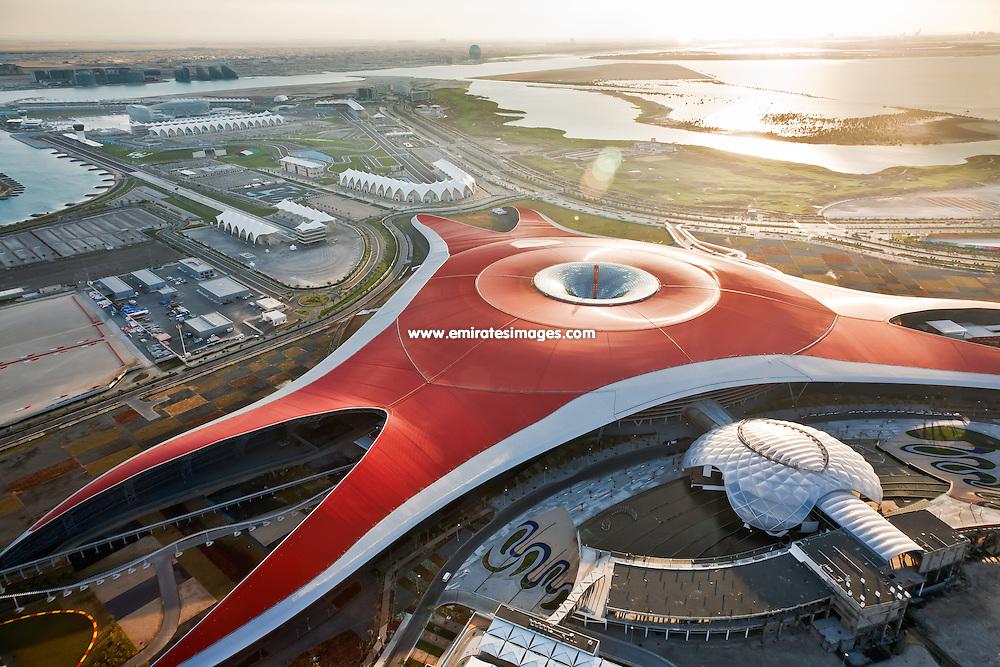 Ferrari World Abu Dhabi aerial shot