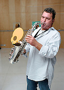 Raphael Ravenscroft <br /> Saxophonist who performed the iconic solo on Gerry Rafferty's 1978 track Baker Street died on 19th October 2014 aged 60 from a suspected heart attack. <br /> <br /> Picture is from an event at the St. Martin's Lane Hotel, London, Great Britain <br /> 21st October 2005. <br /> <br /> Photograph by Elliott Franks