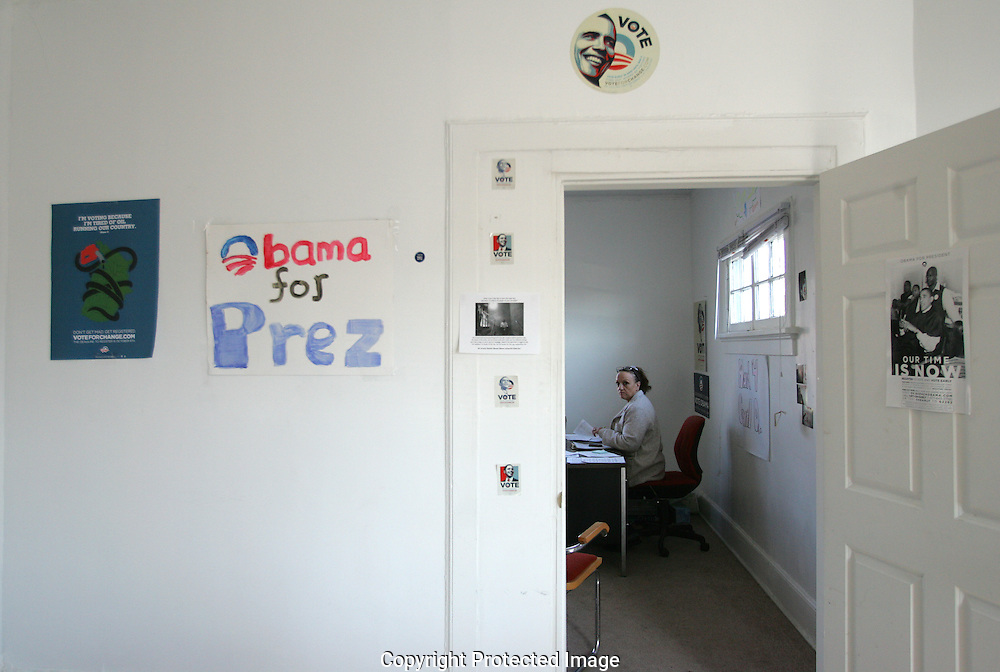 Obama volunteer center .1005 E. Long Street on Election Day Nov.4 2008