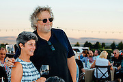 Seattle chef, Tom Douglas with guest at the North Star Winery Harvest Dinner