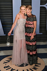 Margot Robbie (left) and Mother Sarie Kessler arriving at the Vanity Fair Oscar Party held in Beverly Hills, Los Angeles, USA.