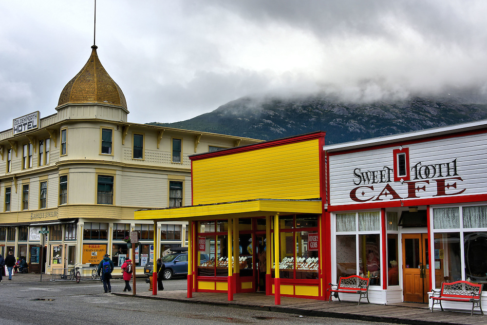 Legend of Stone Woman in Skagway, Alaska <br />