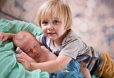 Brand new Baby Freddie and big brother William - Newborn Baby Photographer in West Sussex
