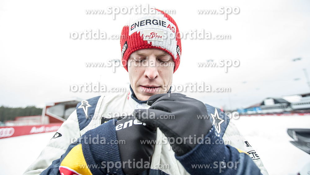 23.02.2015, Lugnet Fussballstadion, Falun, SWE, FIS Weltmeisterschaften Ski Nordisch, Audi driving experience, im Bild Michael Hayböck (AUT) // during the Audi driving experience of the FIS Nordic Ski World Championships 2015 at the Lugnet Ski Stadium, Falun, Sweden on 2015/02/23. EXPA Pictures © 2015, PhotoCredit: EXPA/ JFK