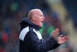 Falkirk's manager Peter Houston. <br /> Falkirk 2 v 0 Alloa Athletic, Scottish Championship game played 5/3/2016 at The Falkirk Stadium.