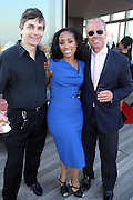 l to r: Bob Piwinski, Michelle Murray and Frank Gingsberg at The Launch Party for The Alize Ground-Breaking Online Reality Series Concrete & Cashmere Web Based Reality Show held at The Cooper Square Hotel on July 9, 2009 in New York City