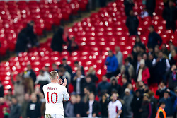 Wayne Rooney of England applauds the fans after his last international match - Mandatory by-line: Robbie Stephenson/JMP - 15/11/2018 - FOOTBALL - Wembley Stadium - London, England - England v United States of America - International Friendly