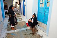 Grece, Dodecanese, Karpathos, Olympos // Greece, Dodecanese, Karpathos island, Olympos, local woman
