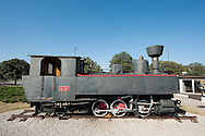 Old steam locomotive at the railway station in Koper, on the Parenzana cycle route, Slovenia © Rudolf Abraham