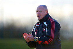 LIVERPOOL, ENGLAND - Tuesday, January 11, 2011: Liverpool's Reserve team manager John McMahon during the FA Premiership Reserves League (Northern Division) match against Sunderland at the Kirkby Academy. (Pic by: David Rawcliffe/Propaganda)