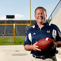Notre Dame head football coach Brian Kelly, Notre Dame, IN.<br />