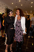 Isabella Blow and Diane von Furstenberg, Diane von Furstenberg shop opening, Ledbury Rd. 21 September 2003. © Copyright Photograph by Dafydd Jones 66 Stockwell Park Rd. London SW9 0DA Tel 020 7733 0108 www.dafjones.com