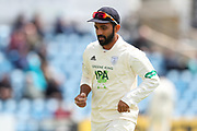 Ajinkyha Rahane of Hampshire during the opening day of the Specsavers County Champ Div 1 match between Yorkshire County Cricket Club and Hampshire County Cricket Club at Headingley Stadium, Headingley, United Kingdom on 27 May 2019.
