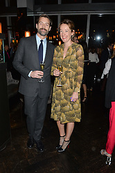 PATRICK GRANT and EMILY SMITH at the OMEGA VIP dinner hosted by Cindy Crawford and OMEGA President Mr. Stephen Urquhart held at aqua shard', Level 31, The Shard, 31 St Thomas Street, London, SE1 9RY on 10th December 2014.