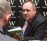 Aberdeen, Friday 20th March 2015<br /> <br /> Alex Salmond signing his new book at the Waterston book shop in Aberdeen. <br /> <br /> <br /> <br /> (Picture by Michal Wachucik/Newsline Media Ltd)