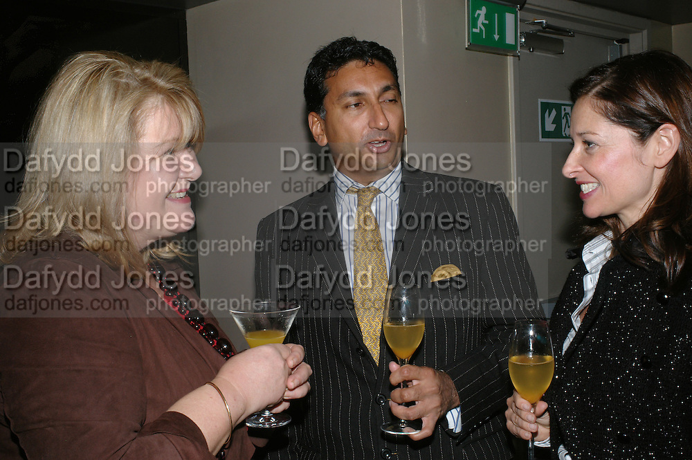 LINDA WOODHEAD, MANGAL KAPOOR AND MOLLY MOYLAM, The launch of ' Cooler, Faster, More Expensive, - the Return of the Sloane Ranger. By Peter York and Olivia Stewart-Liberty. Kitts. 7-12 Sloane sq. London. 15 October 2007. -DO NOT ARCHIVE-© Copyright Photograph by Dafydd Jones. 248 Clapham Rd. London SW9 0PZ. Tel 0207 820 0771. www.dafjones.com.
