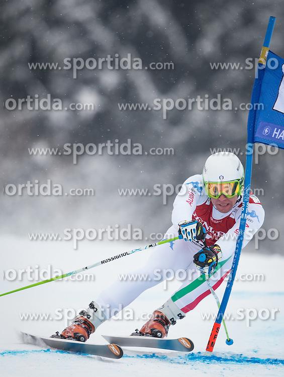 25.01.2013, Streif, Kitzbuehel, AUT, FIS Weltcup Ski Alpin, Super G, Herren, im Bild Matteo Marsaglia (ITA) // Matteo Marsaglia of Italy in action during mens SuperG of the FIS Ski Alpine World Cup at the Streif course, Kitzbuehel, Austria on 2013/01/25. EXPA Pictures © 2013, PhotoCredit: EXPA/ Johann Groder