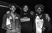 Backstage at Reggae Sunsplash Jamaica with Junior Marvin, Jacob Miller and Burning Spear - 1980