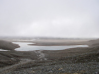 A small lake in the rocky interior of Spitzbergen