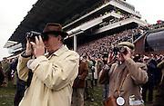 Spectators at the Cheltenham Races, Gloucestershire, Cheltenham.