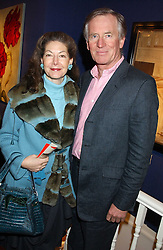 JOHN GORST and SANDRA CRONAN at a private view sculptures, drawings and Maquettes by Aly Brown held at Lucy B Campbell Fine Art, 123 Kensington Church Street, London W8 on 22nd November 2005.<br />