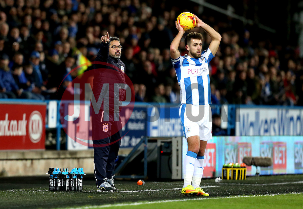 Huddersfield Town manager David Wagner points to where he wants Tommy Smith of Huddersfield Town to throw the ball - Mandatory by-line: Robbie Stephenson/JMP - 02/02/2017 - FOOTBALL - John Smith's Stadium - Huddersfield, England - Huddersfield Town v Brighton and Hove Albion - Sky Bet Championship
