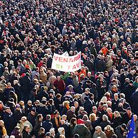 Torino 12 gennaio 2019:  manifestazione SI Tav in piazza Castello ribadire il sostegno alla Torino-Lione e alle grandi opere