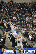 Twickenham, GREAT BRITAIN,  Daniel VICKERMAN, challenges for the line out ball, during the 2008 Varsity Rugby match Oxford vs Cambridge played at the RFU Stadium Twickenham, Surrey on  Thursday, 11/12/2008[Photo, Peter Spurrier/Intersport-images]