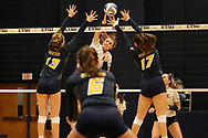 October 31, 2018 - Johnson City, Tennessee - Brooks Gym: ETSU middle blocker Mariah McPartland (7)<br /> <br /> Image Credit: Dakota Hamilton/ETSU