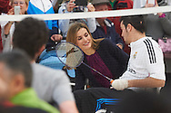 Queen Letizia of Spain attended the Event commemorating the 40th anniversary of the National Hospital for Paraplegics on February 10, 2015 in Toledo, Spain
