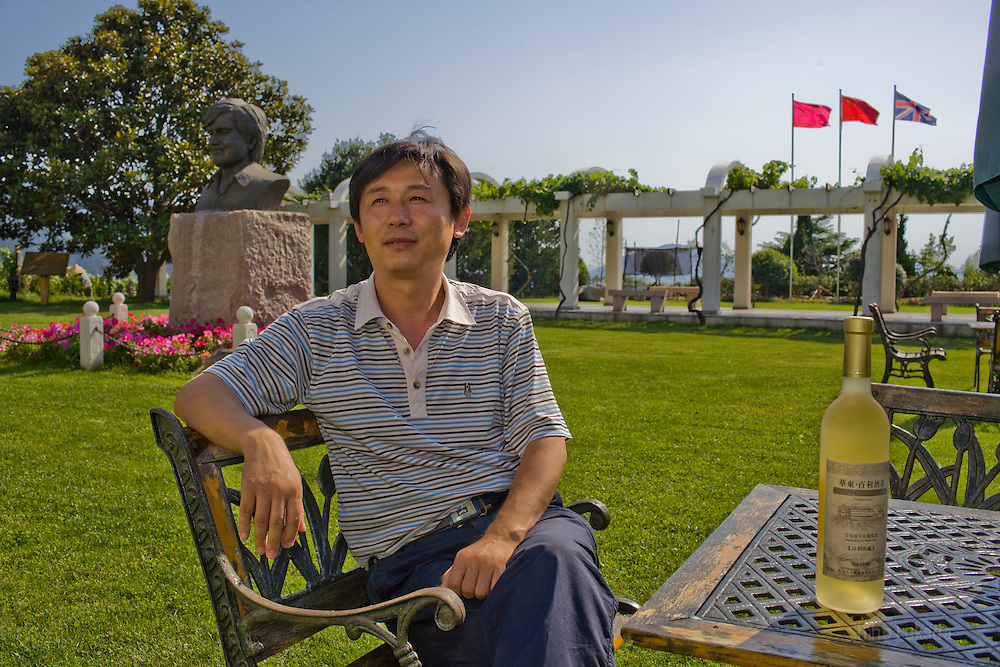Zhu Shangdong, head of horticulture, is seen at the Huadong Winery in Qingtao, China, June 23, 2009.