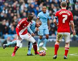 Middlesbrough's Albert Adomah in action  - Photo mandatory by-line: Matt McNulty/JMP - Mobile: 07966 386802 - 24/01/2015 - SPORT - Football - Manchester - Etihad Stadium - Manchester City v Middlesbrough - FA Cup Fourth Round