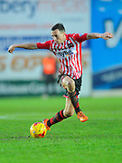Exeter City's Jordan Tillson during the Sky Bet League 2 match between Exeter City and Dagenham and Redbridge at St James' Park, Exeter, England on 2 January 2016. Photo by Graham Hunt.