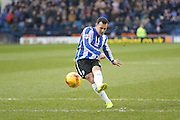 Sheffield Wednesday midfielder Ross Wallace  with the free kick during the Sky Bet Championship match between Sheffield Wednesday and Brentford at Hillsborough, Sheffield, England on 13 February 2016. Photo by Simon Davies.