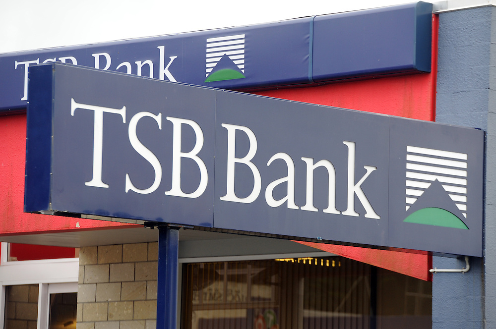 TSB Bank, Taranaki Savings Bank, New Plymouth, New Zealand, Friday, June 21 2013. Credit:SNPA / Ross Setford