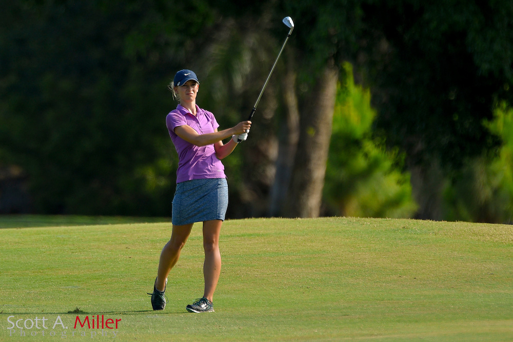 Emily Childs during the third round of the Symetra Tour's Chico's Patty Berg Memorial on April 18, 2015 in Fort Myers, Florida.<br /> <br /> &copy;2015 Scott A. Miller
