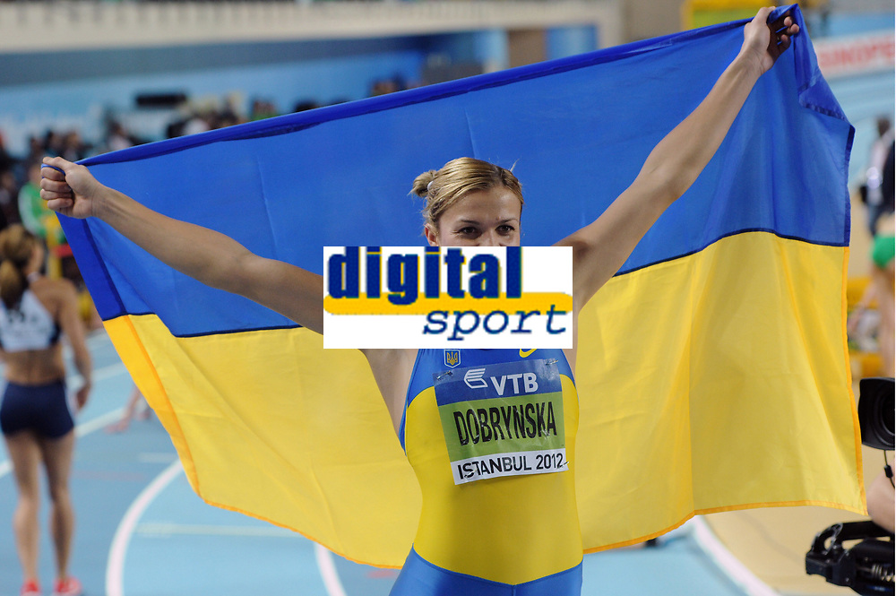 ATHLETICS - WORLD CHAMPIONSHIPS INDOOR 2012 - ISTANBUL (TUR) 09 to 11/03/2012 - PHOTO : STEPHANE KEMPINAIRE / KMSP / DPPI - <br /> PENTATHLON - WOMEN - SILVER MEDAL - NATALIA DOBRYNSKA (UKR)