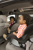 Boy Sitting in Car Seat