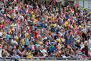 Big crowd enjoying T20 during the Vitality T20 Blast North Group match between Birmingham Bears and Leicestershire Foxes at Edgbaston, Birmingham, United Kingdom on 21 July 2019.