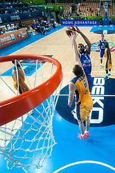 04.09.2013, Arena Bonifka, Koper, SLO, Eurobasket EM 2013, Schweden vs Griechenland, im Bild Yannis Boirousis #5 of Greece shoots against Joakim Kjellbom #6 of Sweden // during Eurobasket EM 2013 match between Sweden and Greece at Arena Bonifka in Koper, Slowenia on 2013/09/04. EXPA Pictures © 2013, PhotoCredit: EXPA/ Sportida/ Matic Klansek Velej<br /> <br /> ***** ATTENTION - OUT OF SLO *****