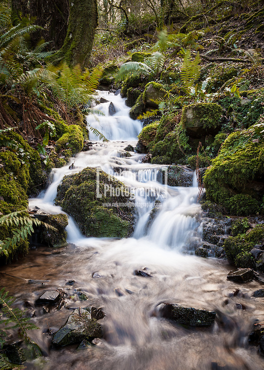 A waterfall in Exmoor National Park.