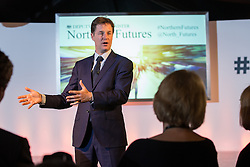 © Licensed to London News Pictures . 16/10/2014 . Stockport , UK . The Deputy Prime Minister , NICK CLEGG , hosts a Q&A with local A level students and Adidas staff at the Adidas headquarters in Stockport . Photo credit : Joel Goodman/LNP