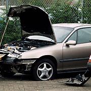Auto Kiki Musampa bij garage Merel in Amsterdam met schade