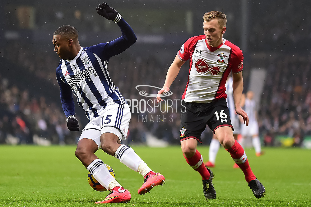 West Bromwich Albion striker (on loan from Liverpool) Daniel Sturridge (15) turns with the ball during the Premier League match between West Bromwich Albion and Southampton at The Hawthorns, West Bromwich, England on 3 February 2018. Picture by Dennis Goodwin.