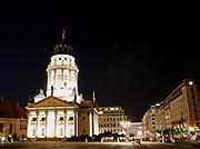 illuminated building, berlin, germany