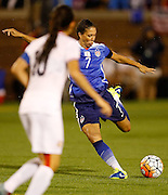 CHATTANOOGA, TN - AUGUST 19:  Midfielder Shannon Boxx #7 of the United States shoots during the friendly match against Costa Rica at Finley Stadium on August 19, 2015 in Chattanooga, Tennessee.  (Photo by Mike Zarrilli/Getty Images)